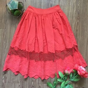 Coral ASOS Skirt